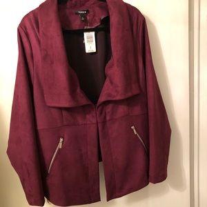 Torrid - Purple Suede Peplum Jacket
